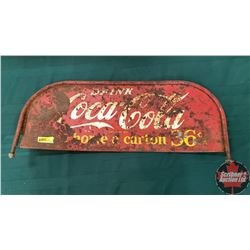 "Drink Coca-Cola Bottle Rack Top 36¢ Double Sided (25"" x 10"")"