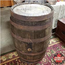 "Whiskey Barrel (35""H)"