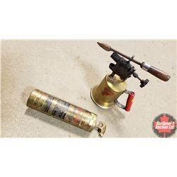 """""""Fire-Gun"""" Extinguisher & Brass Blow Torch"""