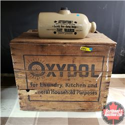 "Wood Box ""Oxydol"" & Reproduction Foot Warmer Accent Piece"