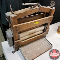 Wooden Washing Machine Ringer