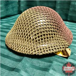 "Military Helmet ""Dough Boy Style"" Canada w/Mesh Cover"