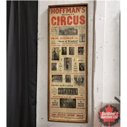 """Hoffman's Novelty Circus"" Framed Poster (42-1/2"" x 14-1/2"") ""Rouleau, Sask"""
