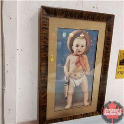 """Framed Baby Cowboy Print (37"""" x 24"""")"""