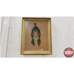 "Framed Native Girl Print (21"" x 17"")"