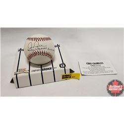 "Signed Baseball ""Chris Chambliss"" Yankees 1974-88"