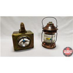 Copper Lantern & Flash Light