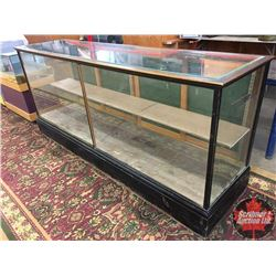 "General Store Showcase (Back Wood-Sliding Glass Doors - Painted) (96""L x 25-1/2""W x 42""H)"