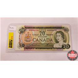 Canada Twenty Dollar Bill 1969 (Lawson/Bouey S/N#WU0456785)