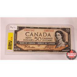 Canada Fifty Dollar Bill 1954 (Beattie/Coyne AH3007182)