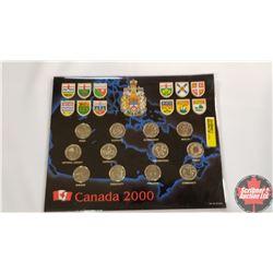 2000 Canada Millennium Quarter Set! 12 Coins (Community, Pride, Ingenuity, Achievement, Health, Natu