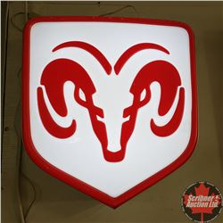 "Light RAM Dealer Sign (26"" x 24"" x 7"")"