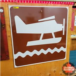 "Float Plane - Metal Sign (24"" x 24"")"