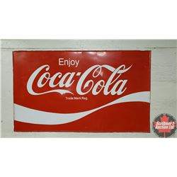 "Single Sided Sign ""Enjoy Coca-Cola"" 1979   (36"" x 60"")"