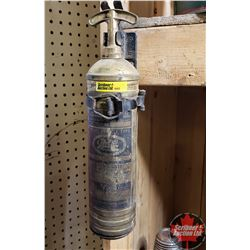 Brass Fire Extinguisher w/Holder