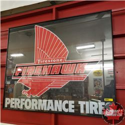 "Framed ""Firestone Firehawk"" Performance Tires (25-1/2"" x 31-1/2"")"