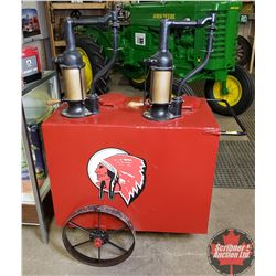 Double Oiler Service Station Cart