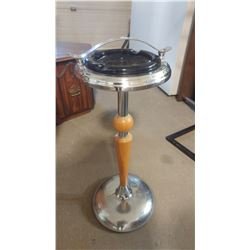 "ANTIQUE SMOKESTAND WITH ASHTRAY (27"" TALL)"