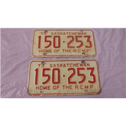 TWO 1973 RCMP LICENSE PLATES