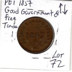 1857 PEI SELF GOVERNMENT AND FREE TRADE TOKEN