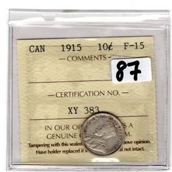 1915 ICCS CERTIFIED 10 CENTS