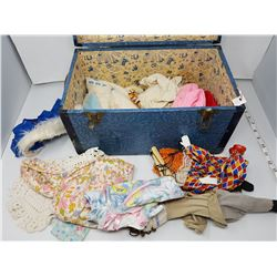 doll trunk with contents