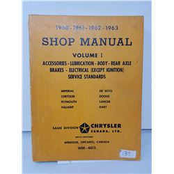 Chrysler shop manual 1960-63