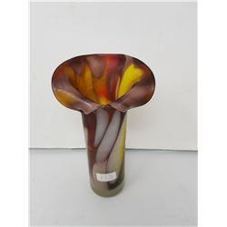 stretch glass flower vase- hand blown