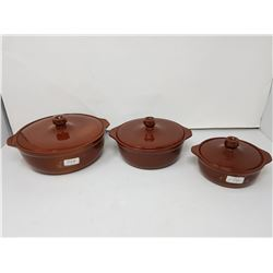 Medalta casserole set (3)