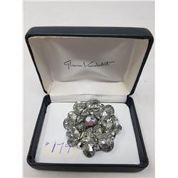 Sherman crystal brooch