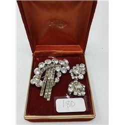 continental brooch & earrings