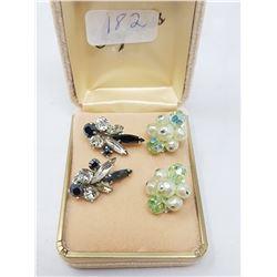 2 pairs Sherman earrings