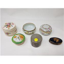 lot of dresser jars
