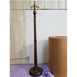 large wooden lamp stand