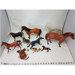 lot of toy horses