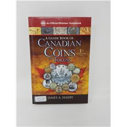 book- guide book of Canadian coins & tokens