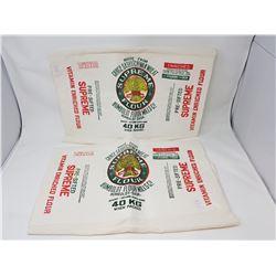 2 flour bags - Humboldt flour mill
