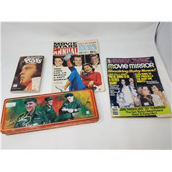 lot of misc Elvis merch (tins, cards, books)