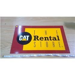 CAT RENTALS METAL SIGN