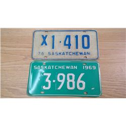 SASKATCHEWAN LICENSE PLATES
