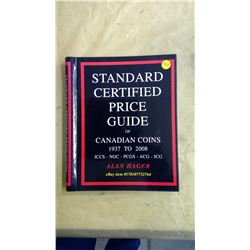 Standard Certified Price Guide of Canadian Coins 1937 to 2008 by Alan Hager. Hard Cover.