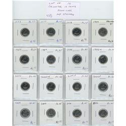 Lot of 16 Collector Proof Like and Specimen10 cents: 1973 PL-63; 1977 PL-63; 1978 PL-65; 1979 Specim