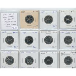 Lot of 11 Collector Proof Like and Specimen 25 cents: 1968 PL-63; 1969 PL-63; 1974 PL-63; 1977 PL-63