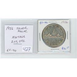 1956 silver dollar EF-40. mintage of 209, 092.