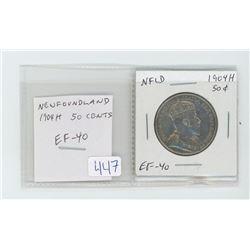 Newfoundland 1904H 50 cents. EF-40. nice