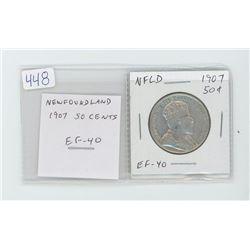 Newfoundland 1907 50 cents. EF-40. nice