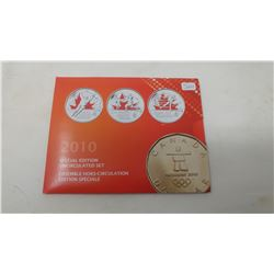 2010 Special Edition 9-piece Olympic Proof Like set including 3 colourized 25 cents.