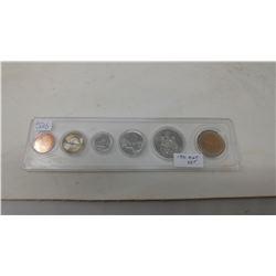 1991 Mint set including caribou 25 cents.