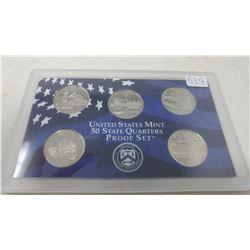 Proof set of 5 U.S. State quarters from the San Francisco Mint: 2005S California, Minnesota, Oregon,