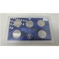 Proof set of 5 U.S. State quarters from the San Francisco Mint: 2006S Nevada, Nebraska, Colorado, No